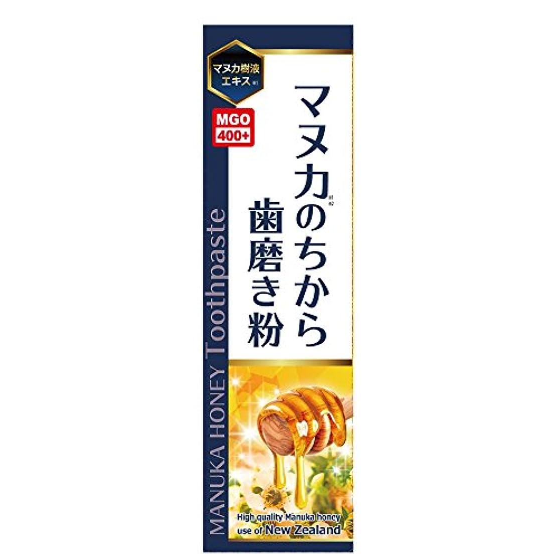 大混乱パンフレット消毒剤マヌカのちから歯磨き粉 ハチミツレモン味 100g
