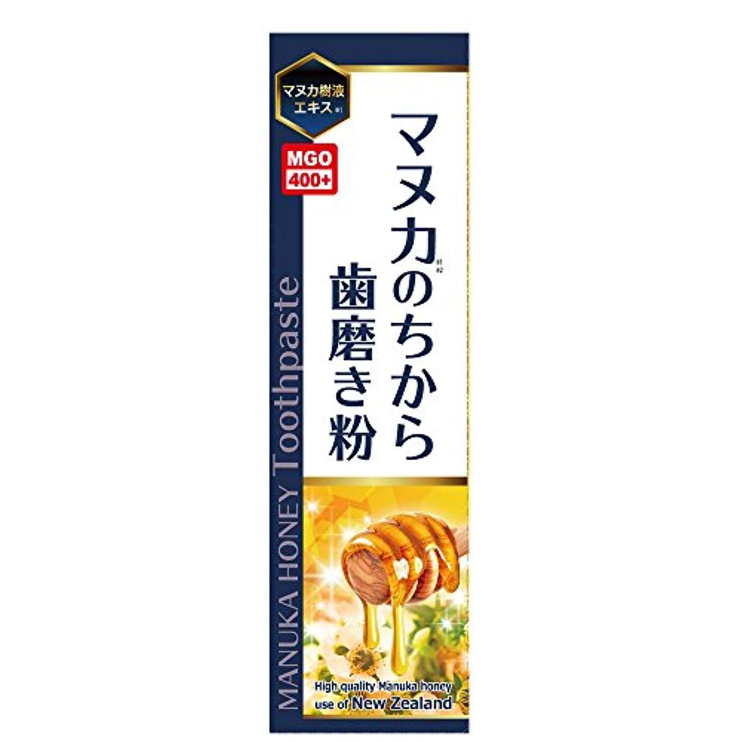 達成可能手術腐食するマヌカのちから歯磨き粉 ハチミツレモン味 100g