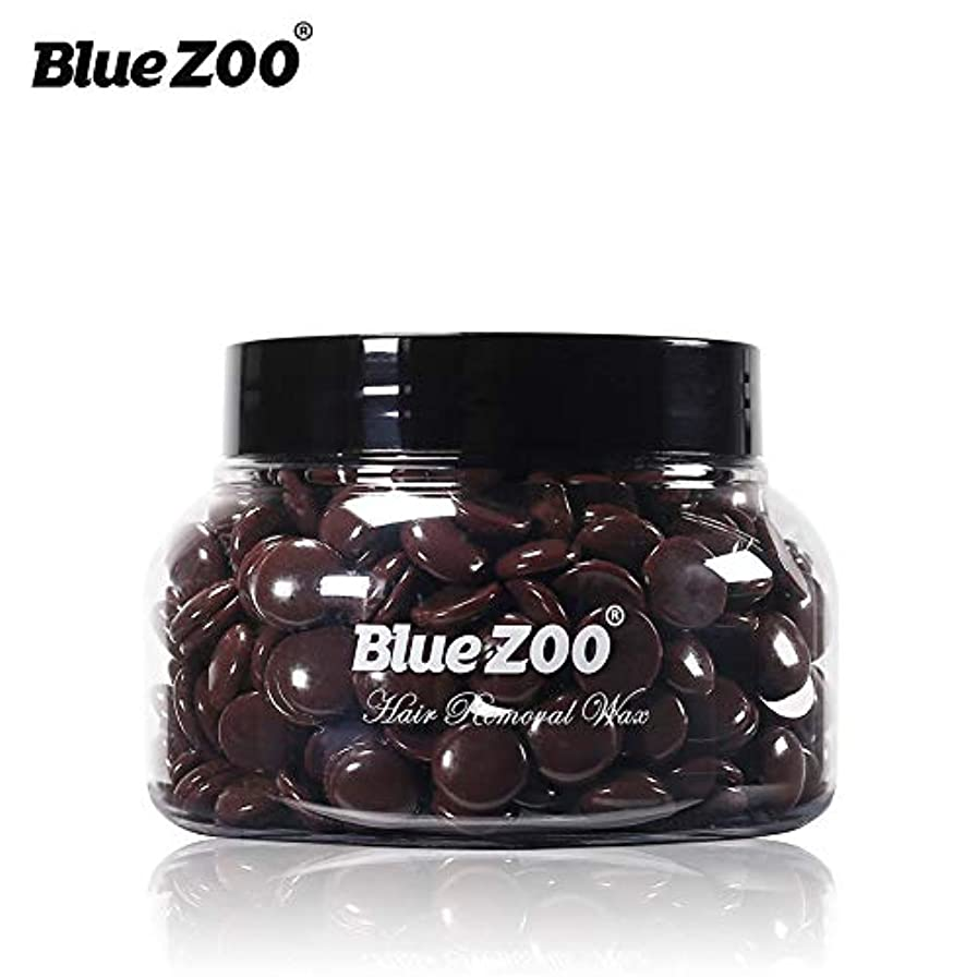著名な変色する使い込むRabugoo 150グラム脱毛ハードワックス豆ペレットワックスビキニ脚アーム脇毛脱毛豆 缶詰チョコレート150g