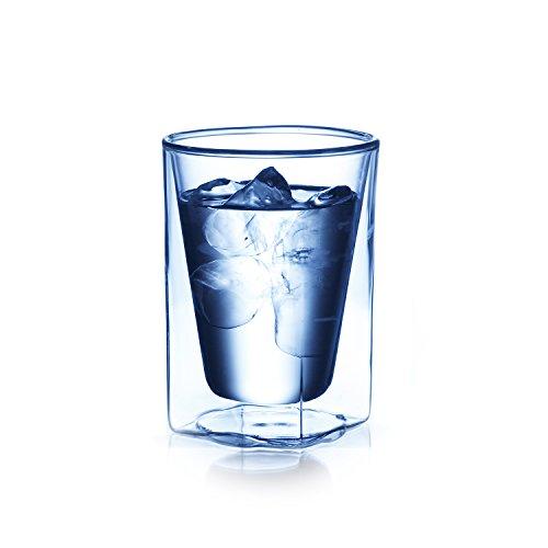 RayES(レイエス) ダブルウォールグラス RDS-002 300ml 耐熱 保冷保温 結露しにくい 食洗機対応 電子レンジ対応 RDS-002 300ml