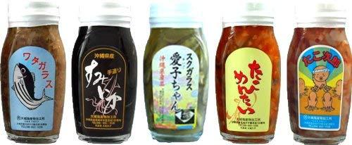 沖縄の珍味 120g 5種セット(スクガラス・すみいか・ワタガラス・たこめんたい・たこ次郎)×1セット 大城海産物加工所 新鮮な素材を使用した塩辛 お酒のおつまみにピッタリ 沖縄土産に最適な逸品