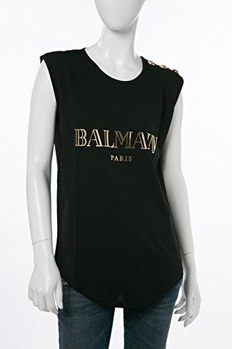 (バルマン) BALMAIN トップ カットソー ブラック レディース (108563 326I) 【並行輸入品】