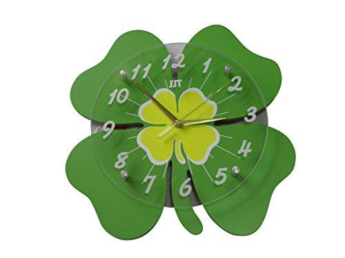 四葉 クローバー おしゃれ な デザイン 掛け 時計 新築 祝い 開業 祝い 等 プレゼント に