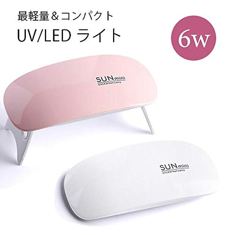 裂け目借りている天国薄型 LED/UV ライト 6w (ピンク)