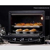 デジタル対流式オーブントースターオーブン4段LCDステンレススチールカウンター大型38QTバーベキューケーキ発酵解凍オーブン、2000W、焦げ付き防止ライナー、焼きフォークグリル