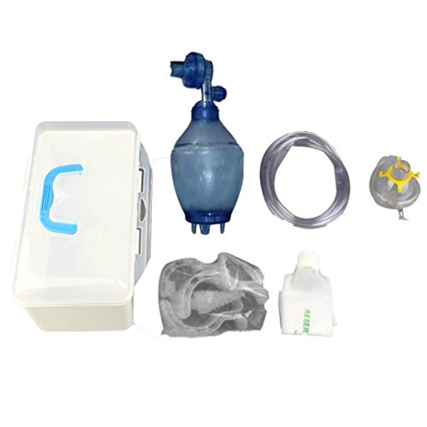 征服者教酔うインターコアリーシンプルセルフヘルプ呼吸器/シリカゲルシンプルマスク/心肺蘇生用エアバッグトレーニング