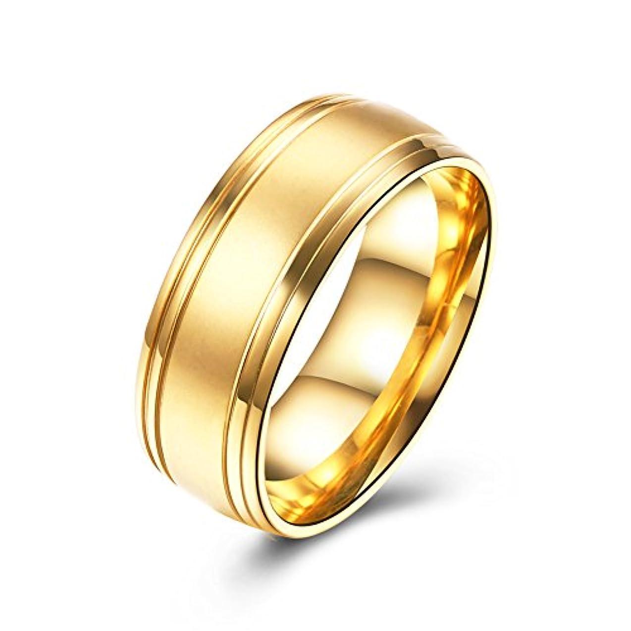最もルーチン選挙流行アクセサリー バレンタインデーのカップルの指輪 ステンレススタンダードリング アレルギーを防ぐ 色あせない
