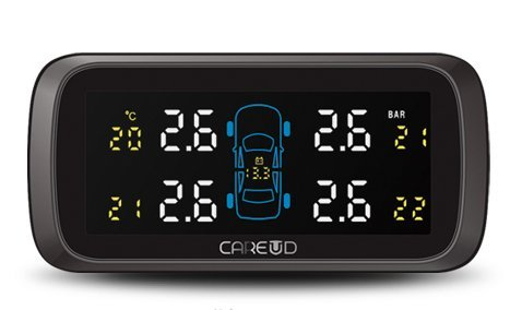 TPMS (Tire Pressure Monitoring System) ワイヤレス タイヤ 空気圧 温度 モニタリングシステム(カラフル)日本語説明書付き U903