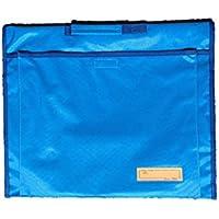 背もたれ式防災頭巾用ポケット付カバー ライトブルー 約34×42cm 90055 90055