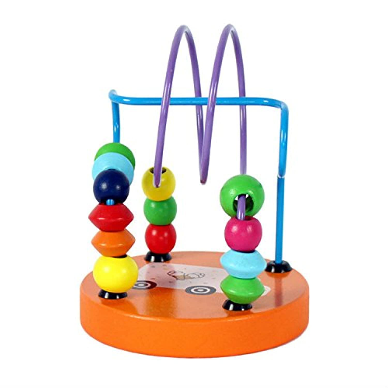 幼児期のゲーム 幼児教育玩具木製ミニビーズビーズビルディングブロックおもちゃ(車)