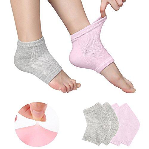 Phoebe かかと 靴下 ソックス レディース メンズ 靴下 つるつる 靴下 フットケア かかとケア ひび 角質ケア 保湿 角質除去 2色組(ピンク+グレー) フリーサイズ