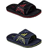 Official Brand Skechers Adjustable Slider Sandals Childs Boys Flip Flop Thongs Beach Shoes