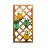 長方形の植木鉢スタンド棚壁掛け木製植木鉢棚ユニット用ハウスガーデンパティオ屋内屋外ヤード