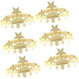 Fenteer 誕生日帽子 紙帽子 王冠 ティアラ パーティー ベビーシャワー 6個 2色選べ - ゴールド