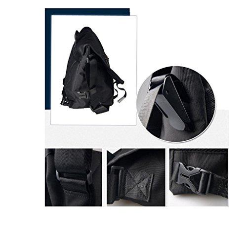 ライトライダーメッセンジャーバッグショルダーメッセンジャーバッグメンズバッグスポーツフライングパッケージを乗ってMs男性中学校の学生用スクールバッグ (色 : ブラック, サイズ さいず : L47cm*W17cm*H32cm)