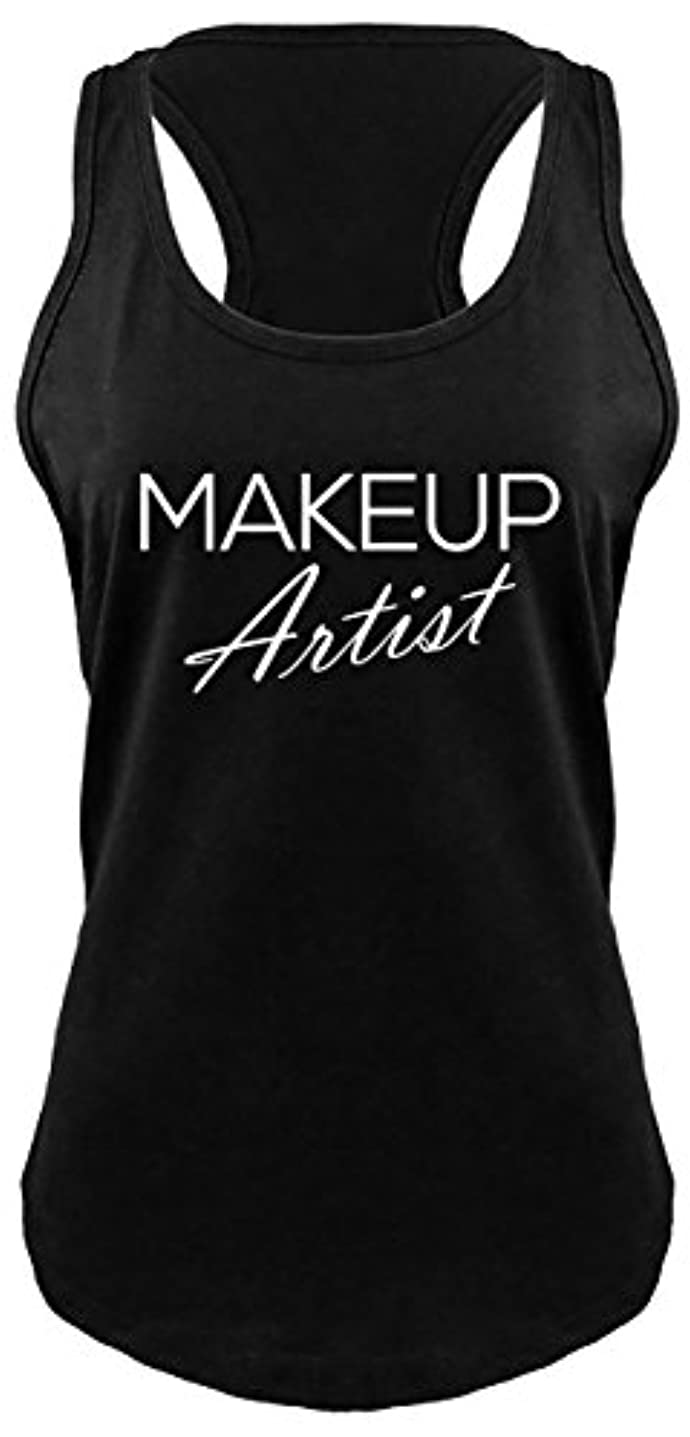 心理的に愛情バイアスComicalシャツLadies Makeup Artistレーサーバック