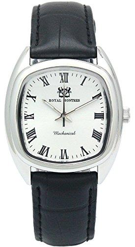[ロイヤルモントレス]ROYAL MONTRES 腕時計 手巻き機械式 アナログ スケルトンバック RM-0008 SV/WH-R メンズ