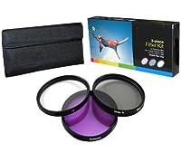 PLR Optics 52mm高解像度3点フィルターセット( UV、蛍光灯、光板) for the Handycam hdr-pj790V、pj760V、cx760VデジタルHDビデオカメラ