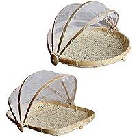 SM SunniMix ドーム型 フルーツ 野菜 テント バスケット メッシュネットカバー 多目的用途 S 2個
