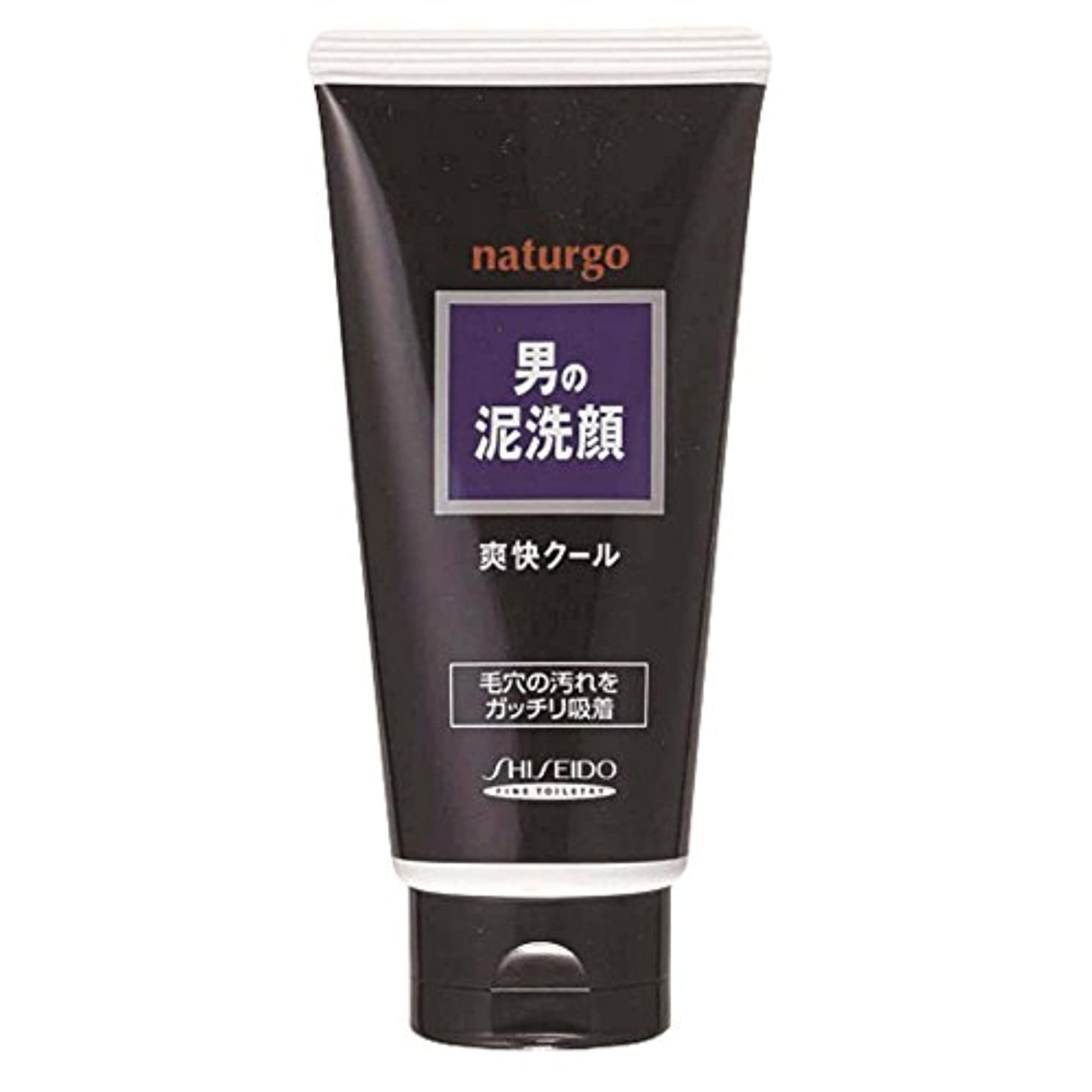 メナジェリー道徳霜ナチュルゴ メンズクレイ洗顔フォーム黒 130g
