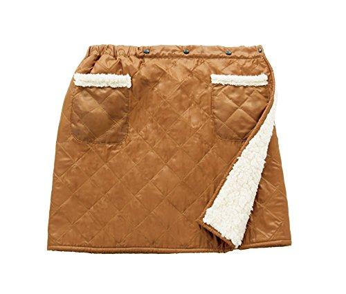 HOT α アルミの暖力 キルティング巻きスカート キャメル...