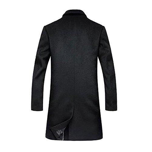 (アイラブコス)iLoveCos JP トレンチコート 紳士 防寒 ウール製アウター(M, ブラック)