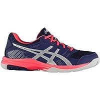 Official Brand Asics Gel Rocket 8 Trainers Womens Shoes Purple/Pink Badminton Sports Footwear