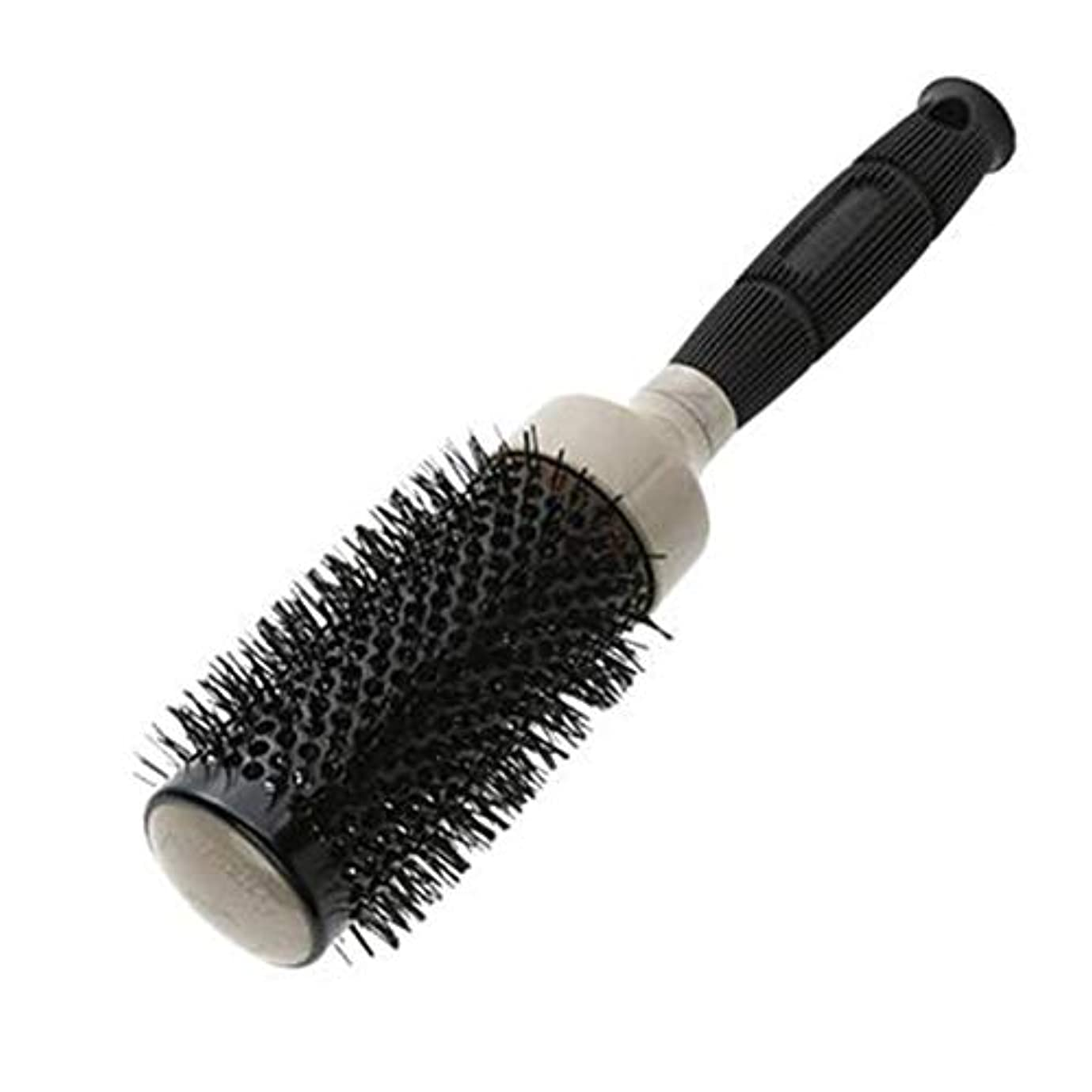 移行する指令破裂Liaowendi セラミックカーリングブラシ理髪サロンスタイリングツールラウンドヘアブラシマッサージ (Color : '53)
