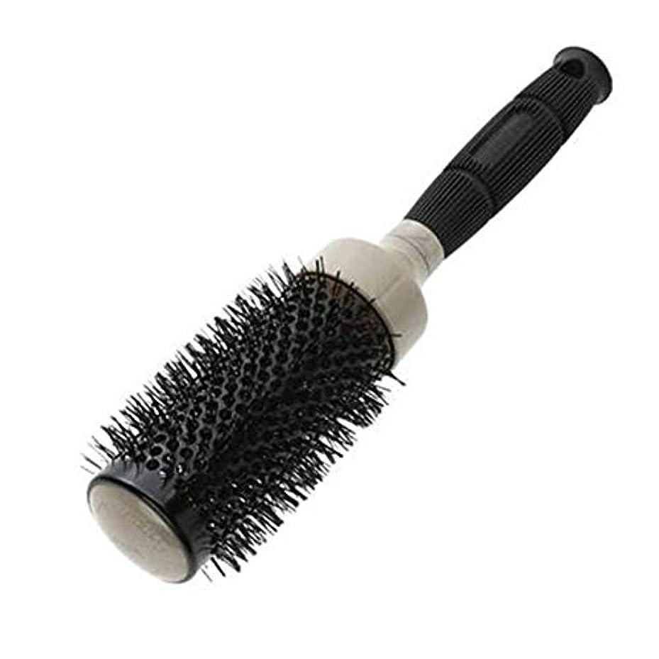 キャプテン選挙知らせるLizhenhua セラミックカーリングブラシ理髪サロンスタイリングツールラウンドヘアブラシマッサージ (Color : '25)