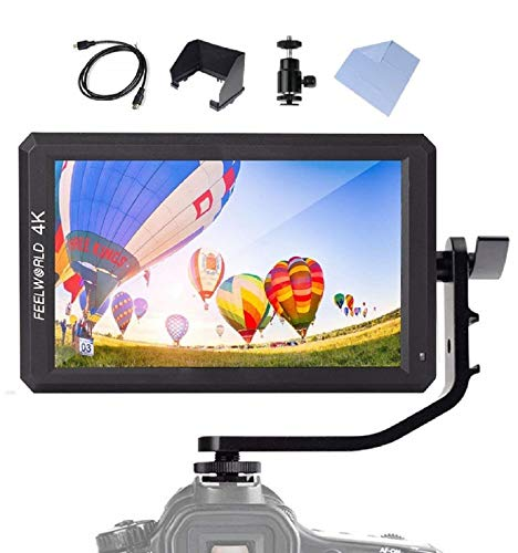 【正規代理店/日本語説明書付】Feelworld F6 4K HDオンカメラ ビデオモニター 5.7インチ IPS 超薄型軽量 1920x1080 HDMI入力 出力可能 撮影確認用 日本語設定可能【オリジナルセット付】