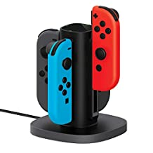 Nintendo Switch Joy Con Charging Dock by TalkWorks | Docking Station Charges up to 4 Joy-Con Controllers Simultaneously - Controllers NOT Included