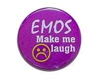 Make Me Laugh スマイル ロゴ 缶バッジ London ストリート マーケットからc305[イギリス直輸入]