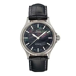 [ジン] 自動巻き メンズ腕時計 型押しカウレザー 556.I.Perlmutt.S
