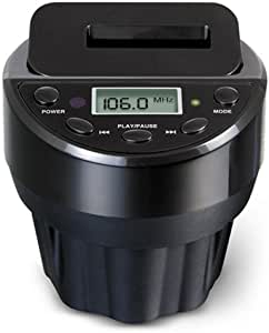 DIASONIC iPod 用カップホルダーFM トランスミッター ブラック DS-CHFMT-BK