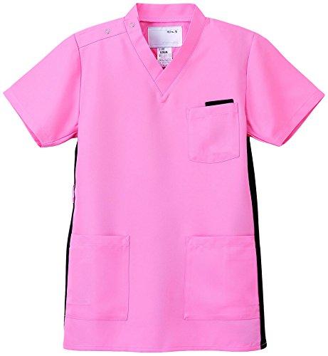 ナガイレーベン スクラブ(男女兼用) 医療白衣 半袖 ピンク SS RT-5062