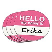 エリカこんにちは、私の名前はコースターセット
