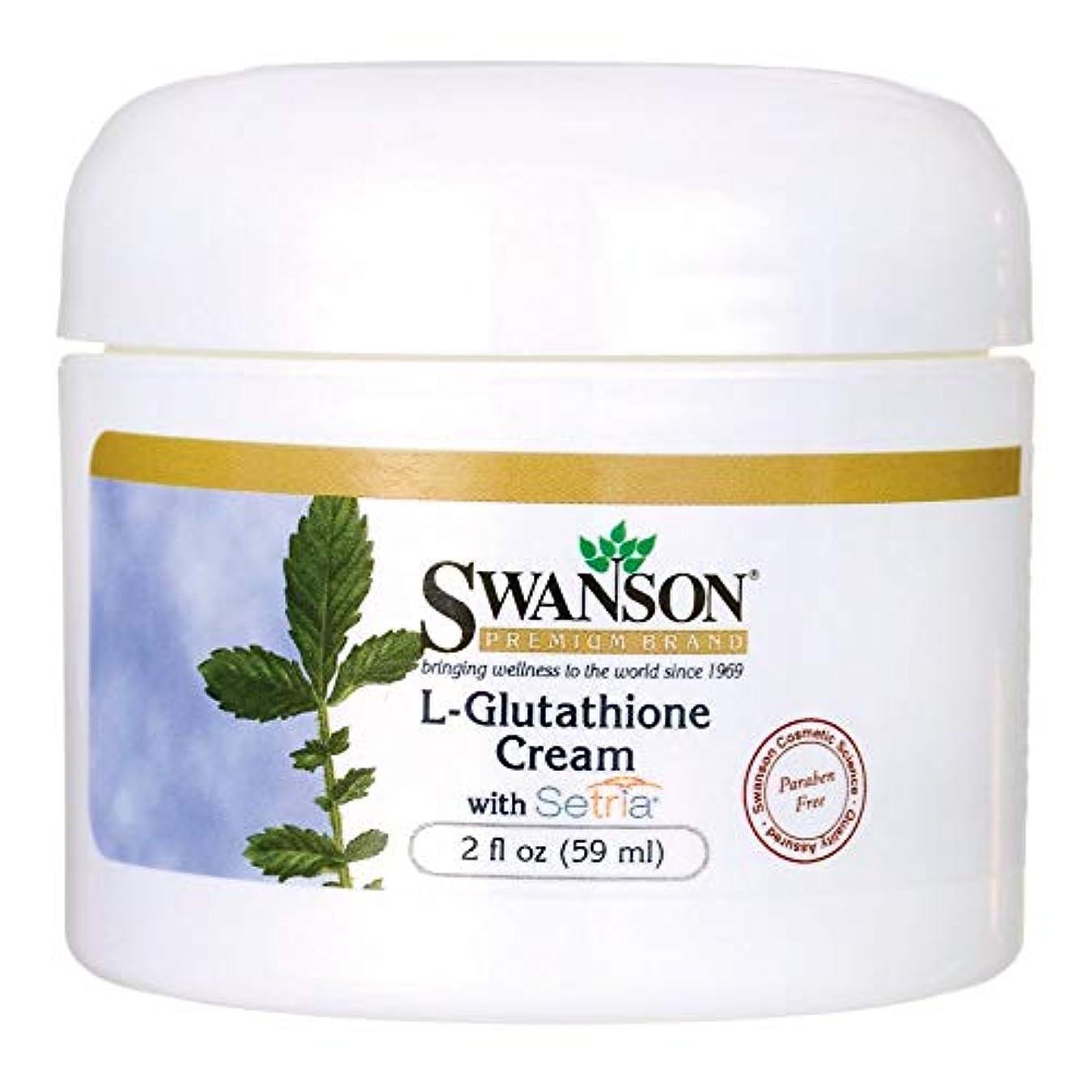 ペン熟読商標L-Glutathione Cream with Setria 2 fl oz (59 ml) Cream by Swanson Premium [並行輸入品]