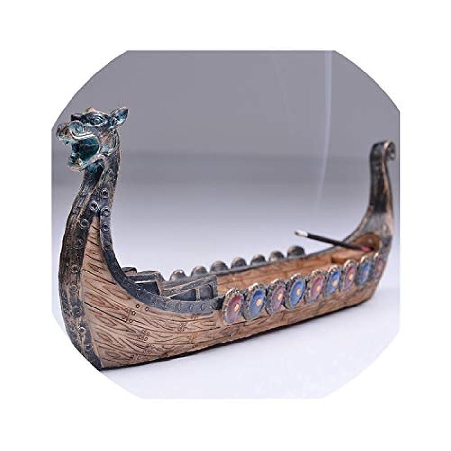 ヒューズ動物不忠dream-higher レトロ お香 バーナー 伝統的な中国デザイン ドラゴンボート スティックホルダー バーナー 手彫り 香炉 オーナメント size SB-122
