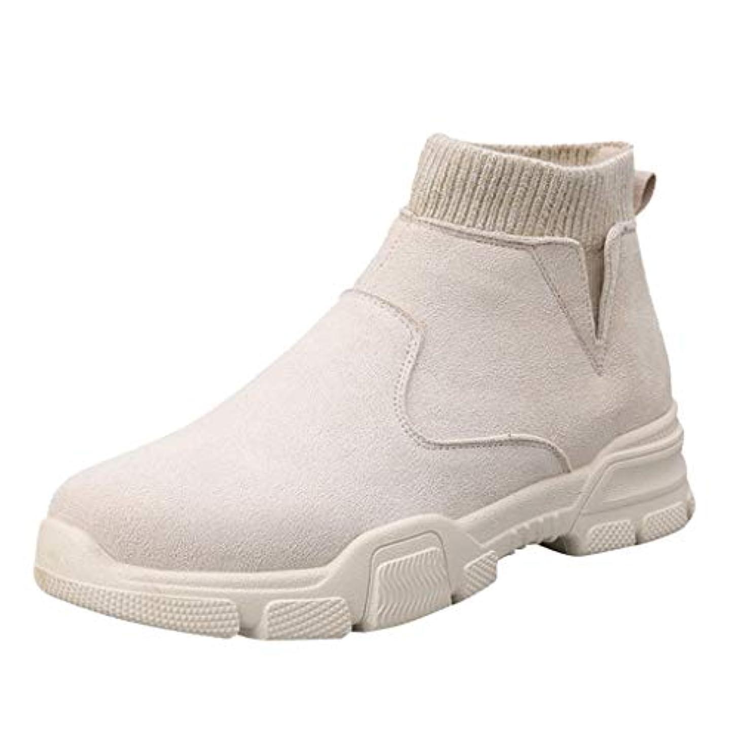 植物の反抗陰気[Lefthigh] メンズ ヴィンテージ ハイトップ スエード ソックス スニーカー カジュアル レザー ブーツ ファッション バイクブーツ