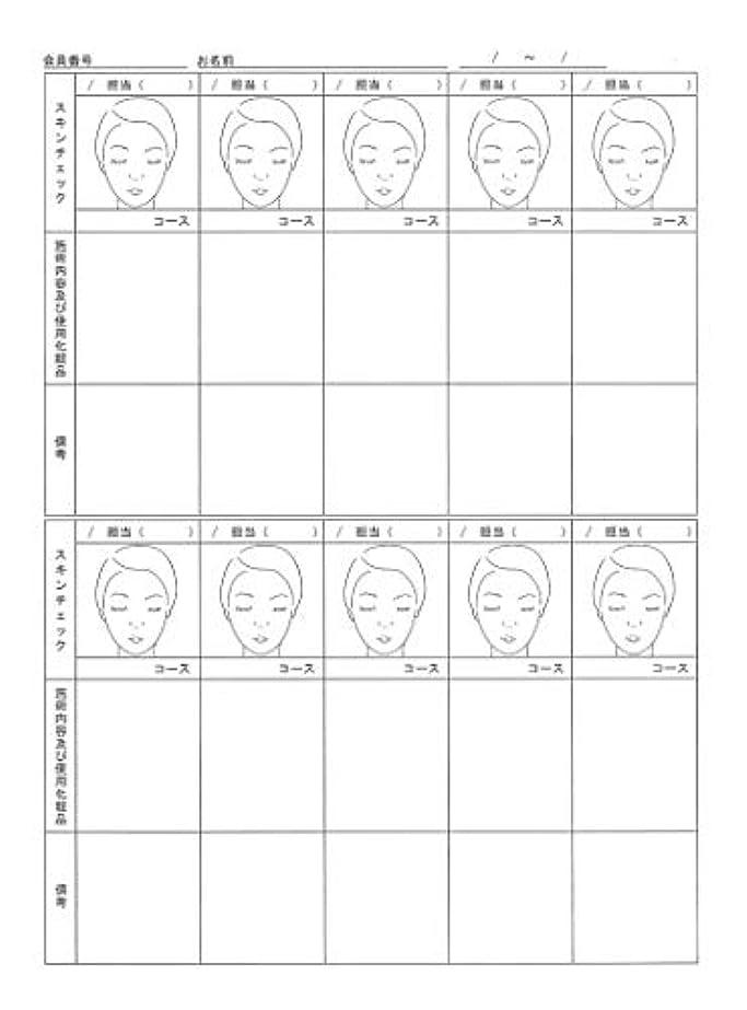 ローズ流星ごちそうスキンチェックカウンセリングカルテ A4判両面(50枚入)