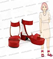 NARUTO -ナルト- 春野サクラ風 02 コスプレ靴 ブーツ