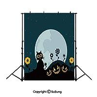 3x5フィート ビニール ハロウィン デコレーション 背景 写真用 ハロウィン ハロウィン 装飾 背景 フクロウ トリック オアトリート キャンディー 背景 新生児 ベビー 写真 ポートレート スタジオ 小道具 誕生日パーティー Ba