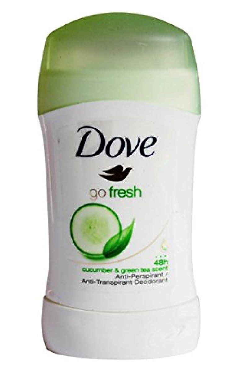 憂慮すべき代表してにはまってDove Go Fresh (Cucumber & Green Tea) Antiperspirant Deodorant Stick 40 ml
