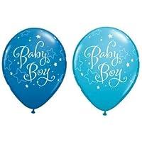 新しいBaby Boy Stars Dark And Robins EggブルーQualatex 11インチラテックスバルーンX 10