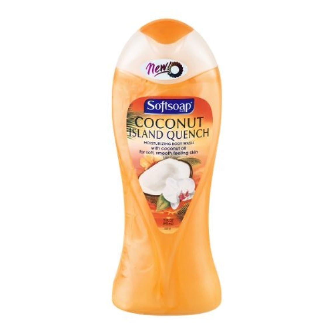 優勢不毛手書きSoftsoap Moisturizing Body Wash Coconut Island Quench, 15 OZ (Pack of 6) by Softsoap
