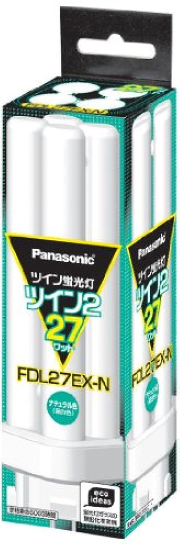 パナソニック ツイン蛍光灯 27形 ナチュラル色 4本束状ブリッジ FDL27EXN