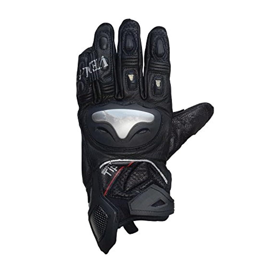歌う責め理想的にはGLJJQMY アンチ秋通気性オートバイ手袋カーボンファイバーレザーグローブ、ブラック グローブ (サイズ さいず : M)