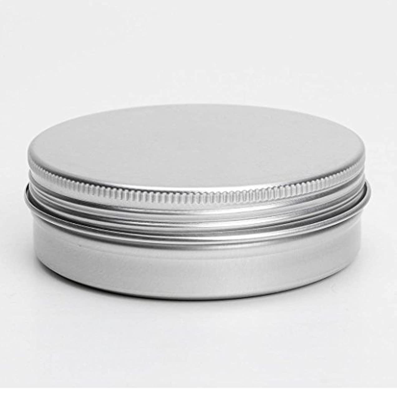 悪用男らしい非難するSODIAL(R) 50 x空の化粧品のポット リップクリームのアルミの瓶 容器 ネジキャップ 150ml