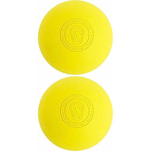 署名ラクロスボール–多くの色と数量–完全に認定公式ボール 12 Balls イエロー