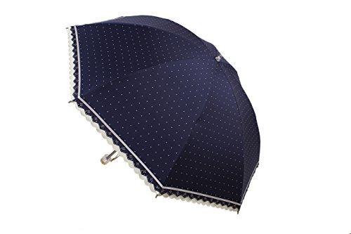MIGOBI 折り畳み傘 レディース umbrella アンブレラ ドット柄 超軽量 コンパクトサイズ UV 防風 日傘 100遮光 ひんやり レ-ス 超撥水性 風に強い バレンタイン blue green pink
